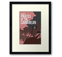Disney Pirates of the Caribbean Framed Print