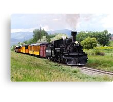 Durango And Silverton Engineer Checks The Track Canvas Print