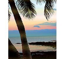 Last sunbeams at Smather's Beach in Key West, FL Photographic Print