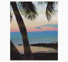 Last sunbeams at Smather's Beach in Key West, FL Kids Tee