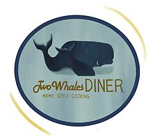 Two Whales Diner Tee (lighter) by artisticaviary