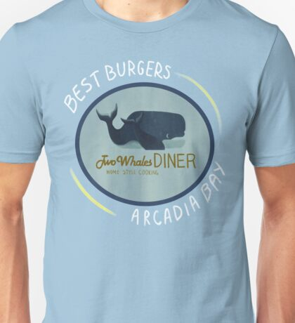 Two Whales Diner Tee (lighter) Unisex T-Shirt