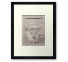 reality  questions of reality Framed Print