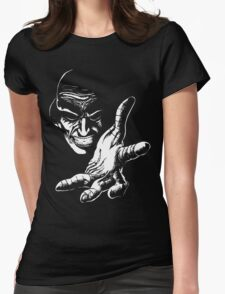 Evil Genius (On Black) Womens Fitted T-Shirt