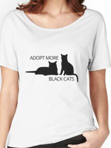 Adopt More Black Cats Women's Relaxed Fit T-Shirt