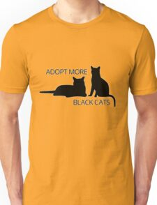 Adopt More Black Cats Unisex T-Shirt