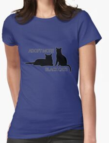 Adopt More Black Cats Womens Fitted T-Shirt