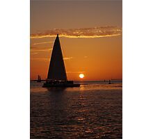 The most beautiful sunsets happen in Key West, FL Photographic Print