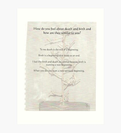 reality  questions and answers Art Print
