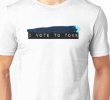 I vote to toke (modern) Unisex T-Shirt