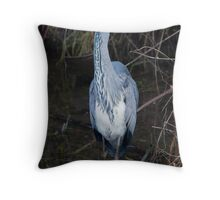 Heron Wading Throw Pillow