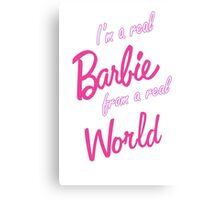 Real Barbie Canvas Print