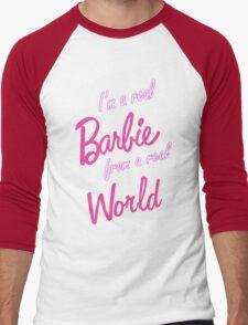 Real Barbie Men's Baseball ¾ T-Shirt