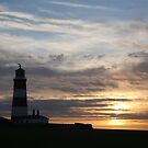 Lighthouse at Sunset by Mark Poulton