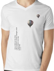 Bird on the Wire Mens V-Neck T-Shirt