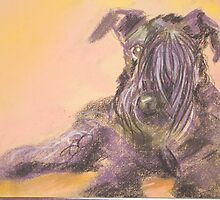 Blue The Kerry Blue Terrier by Tracy Manning