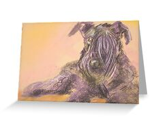 Blue The Kerry Blue Terrier Greeting Card