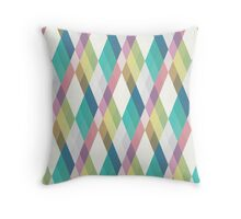 Pastel Diamonds 002/2 Throw Pillow