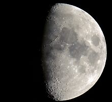 Waining Gibbous Moon by Josef Pittner