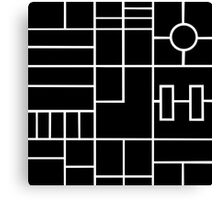 Ps Grid Black Canvas Print