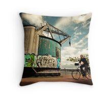The Old Crane Throw Pillow