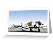 N. American AT-6C Harvard Mk 3 - 7526 Greeting Card