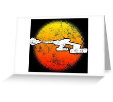 Star Empire Battle Cruiser D7 Flyby - Dark Greeting Card