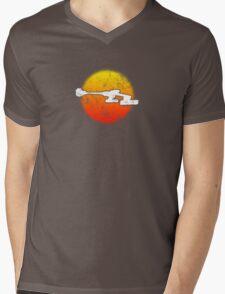 Star Empire Battle Cruiser D7 Flyby - Dark Mens V-Neck T-Shirt