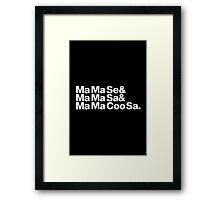 Ma Ma Se Helvetica Ampersand MJ Throwback Framed Print