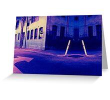 Urban Night Scene 3 Greeting Card