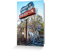 georgia girl drive-in Greeting Card