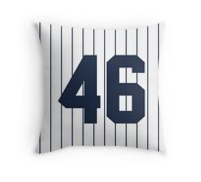 Number 46 Pinstripe Design Throw Pillow