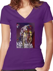 frank's wild years Women's Fitted V-Neck T-Shirt
