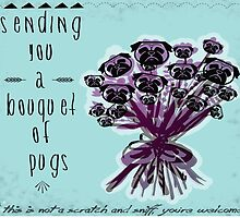 { bouquet of pugs } by smooshfaceutd