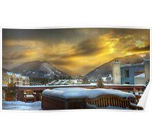 Sun rising over Keystone Resort Poster