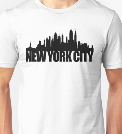 NYC Skyline - black Unisex T-Shirt