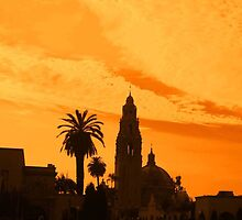 Balboa Park Silhouette, Orange by heatherfriedman