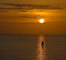 Sailboat Sunset by barkeypf