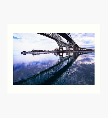Bridge Reflections Art Print