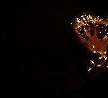 Lisa via Christmas lights by Lisa Humes
