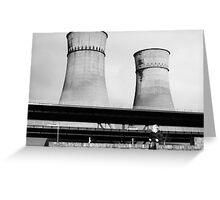 Cooling Towers / Viaduct / Boy Greeting Card
