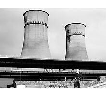 Cooling Towers / Viaduct / Boy Photographic Print