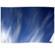 Flaming blue sky Poster