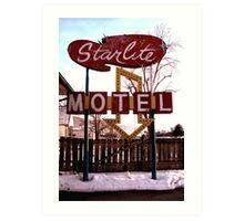 Starlite Motel Art Print