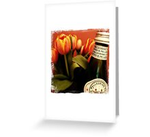 loving those tulips Greeting Card