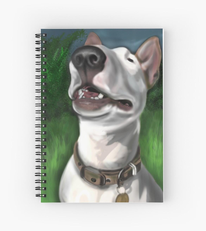 Lola English Bull Terrier Painting 2 by Sookiesooker