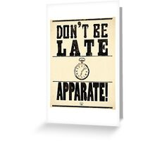 Apparate! Greeting Card