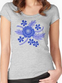 Blue Peony Women's Fitted Scoop T-Shirt