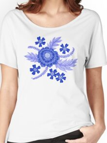 Blue Peony Women's Relaxed Fit T-Shirt