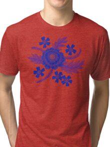 Blue Peony Tri-blend T-Shirt